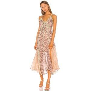 Rebecca Taylor Flower Midi Dress